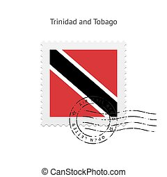 Trinidad and Tobago Flag Postage Stamp - Trinidad and Tobago...