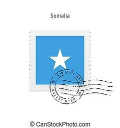 Somalia Flag Postage Stamp. - Somalia Flag Postage Stamp on...