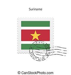Suriname Flag Postage Stamp - Suriname Flag Postage Stamp on...