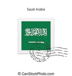 Saudi Arabia Flag Postage Stamp. - Saudi Arabia Flag Postage...