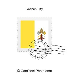 Vatican City Flag Postage Stamp - Vatican City Flag Postage...
