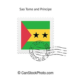 Sao Tome and Principe Flag Postage Stamp. - Sao Tome and...