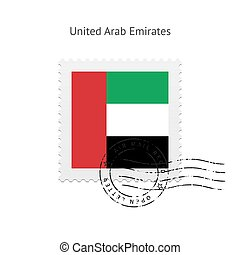United Arab Emirates Flag Postage Stamp - United Arab...