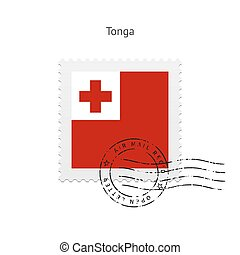 Tonga Flag Postage Stamp. - Tonga Flag Postage Stamp on...