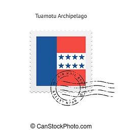 Tuamotu Archipelago Flag Postage Stamp. - Tuamotu...