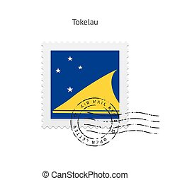 Tokelau Flag Postage Stamp - Tokelau Flag Postage Stamp on...