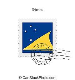 Tokelau Flag Postage Stamp. - Tokelau Flag Postage Stamp on...
