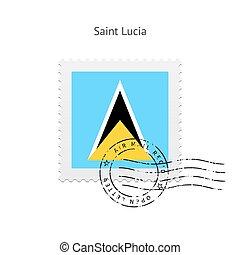 Saint Lucia Flag Postage Stamp - Saint Lucia Flag Postage...