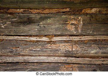 Rough texture of wood - Close- up view of rough wooden...