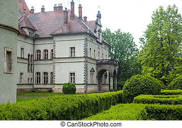 View of old castle in summer - Wonderful exterior of ancient...