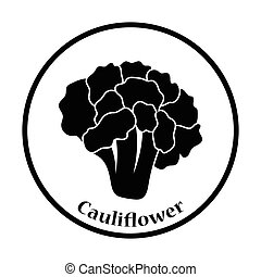 Cauliflower icon Thin circle design Vector illustration