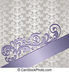 Silver and purple victorian style floral book covereps -...