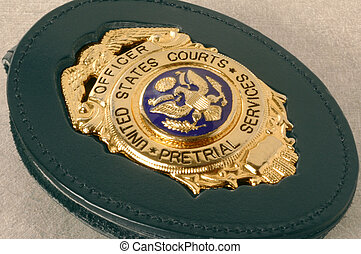 Court officers badge shield