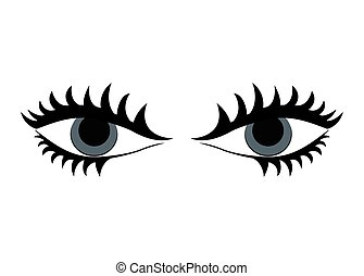 Body part. female design. eyes icon. vector graphic - Body...