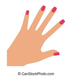 Body part. female design. hand icon. vector graphic - Body...