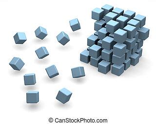 many blocks 3d