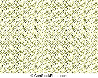 Green and black dots.Hand drawn with ink and colored with...