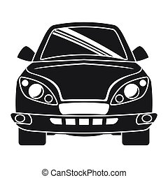 Silhouette of ahead automobile car. Transportation icon. vector