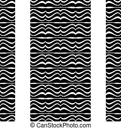 White Background with Zebra Borders Pattern