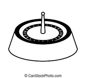 Casino concept. roulette game  icon. vector graphic