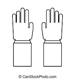 Human hand concept.  Fingers icon. Vector graphic