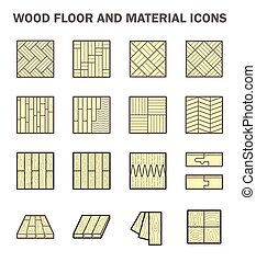 Wood floor icon - Wood floor and material vector icon sets...