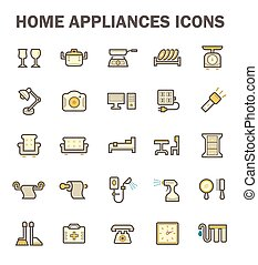 Home appliance icon - Home appliance vector icon set