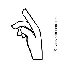 Hand concept. specific gesture with fingers icon. vector...