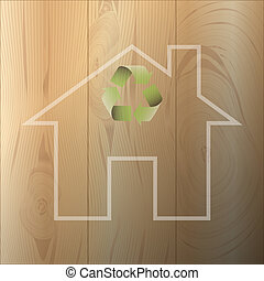 House of environmental materials - Illustration of houses...