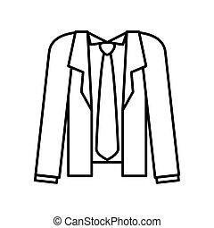 Male Cloth. Suit and necktie icon. vector graphic - Cloth...