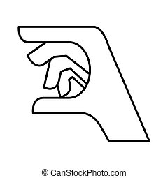 Hand concept specific gesture with fingers icon vector...