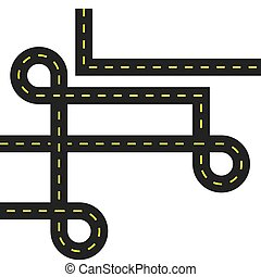 Urban lifestyle concept. Street way icon. vector graphic -...