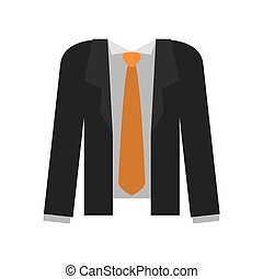 Male Cloth Suit and necktie icon vector graphic - Cloth...