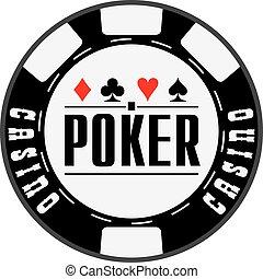 Black casino chips for Poker