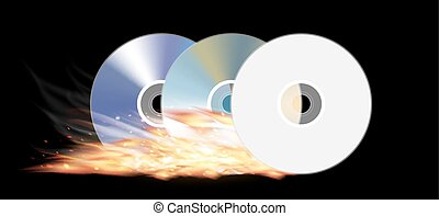 cd dvd disk burning