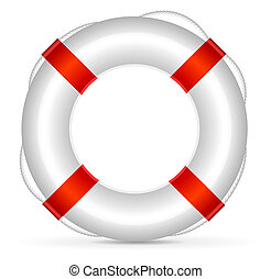 Lifebuoy  - Realistic lifebuoy on white background