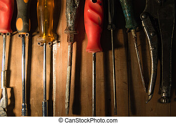Hand Tool background. Industrial background. Bricolage...