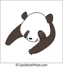 Cartoon panda bear - A vector illustration of a little panda...