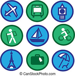 traveling icons - 2 - traveling and tourism icon set