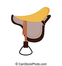 Horse ridding concept Chair icon vector graphic - Horse and...