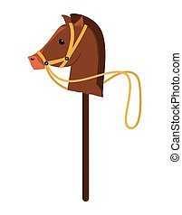 Childhood toy concept. horse Animal icon. vector graphic -...