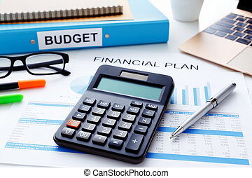 Financial plan concept - Financial and budget planning...