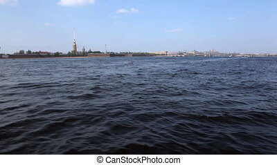 Sail on boat, Saint Petersburg - Sail on boat, Neva, Saint...