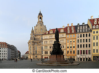 The Dresden Frauenkirche literally Church of Our Lady is a...