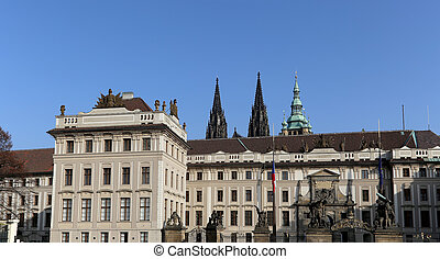 View of the building of the President of the Republic in Prague, Czech republic