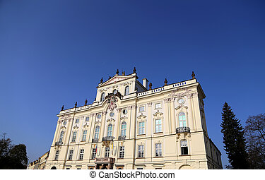 Archbishop Palace, famous building at the main entrance in...