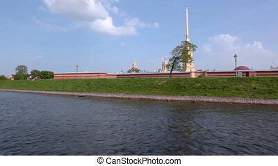 View on Peter and Paul Fortress from river, St. Petersburg