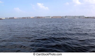 View on St. Petersburg from river