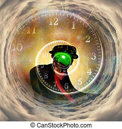 The time keeper - Human being like famous artists work in...