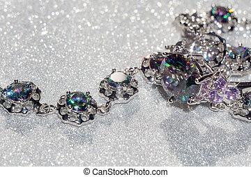 Bracelet with Mystic Topaz - Fashion bracelet with mystic...